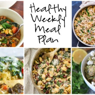 Healthy Weekly Meal Plan Week of 3.4.17