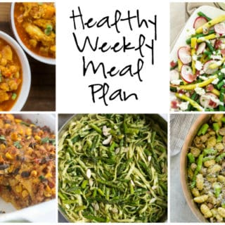 Healthy Weekly Meal Plan Week of 3.18.17