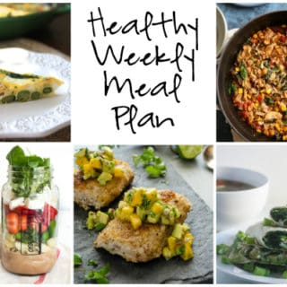 Healthy Weekly Meal Plan Week of 4.8.17