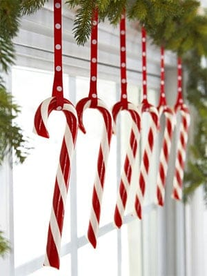 Craft Example - Christmas candies Hanging - Six of Them