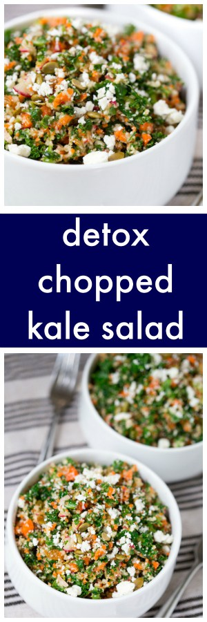 Detox Chopped Kale Salad Collage with Text Overlay