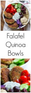 Falafel Quinoa Bowls Super Long Collage with Text Overlay