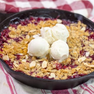 Skillet Almond Strawberry Crisp