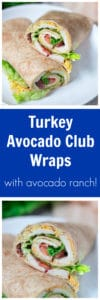 Turkey Avocado Club Wraps