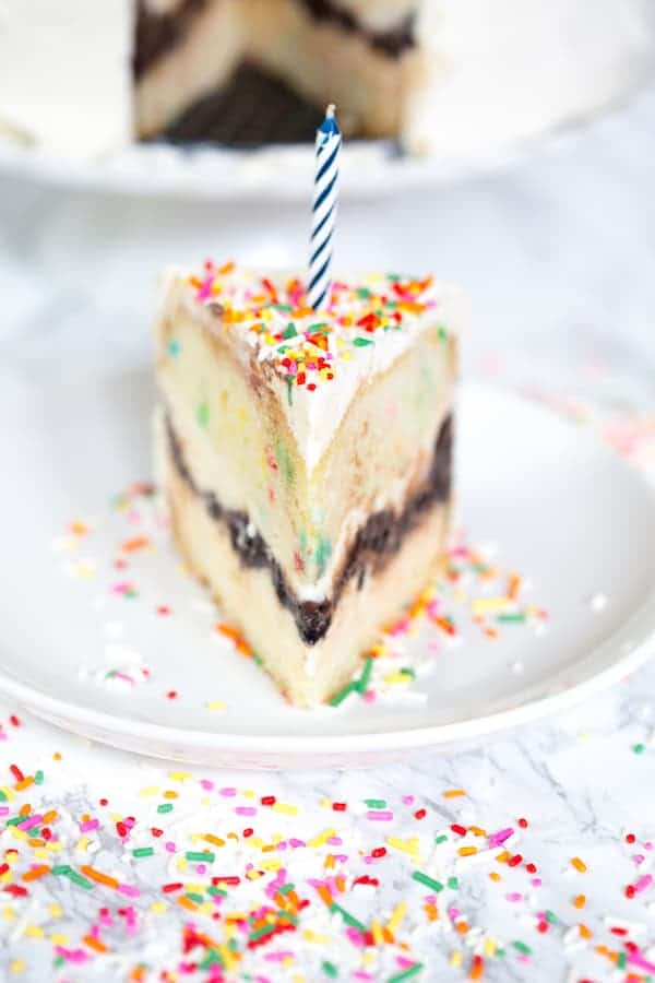 Funfetti Ice Cream Birthday Cake