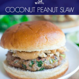 Thai Turkey Burgers with Coconut Peanut Slaw