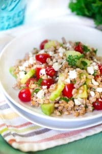 Cucumber and Tomato Farro Salad