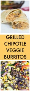 Grilled Chipotle Veggie Burritos