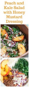 Peach and Kale Salad with Honey Mustard Dressing