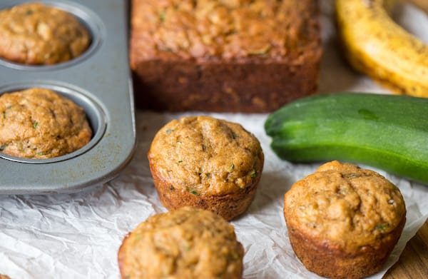 Zucchini Banana Muffins and Bread