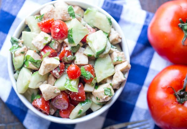 Cucumber Caprese Salad
