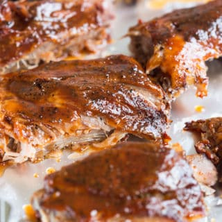 Slow Cooker Honey Bourbon Ribs