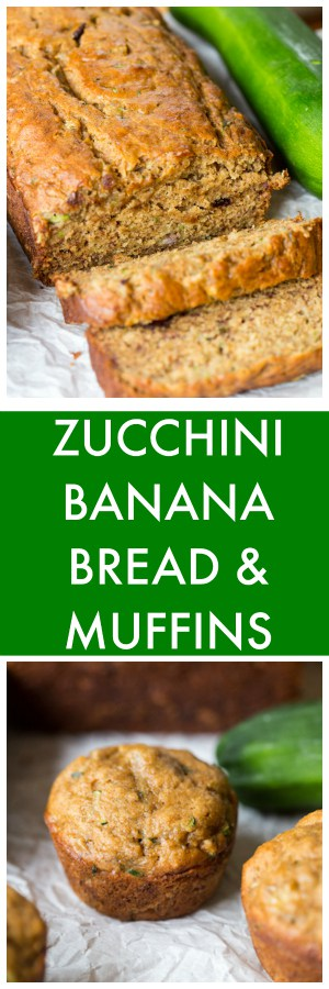 Zucchini Banana Bread and Muffins - one recipe, TWO ways!