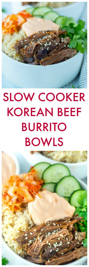 Slow Cooker Korean Beef Burrito Bowls