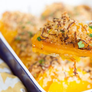 Crunchy Honey Butternut Squash Casserole - Delicious in a Spoon