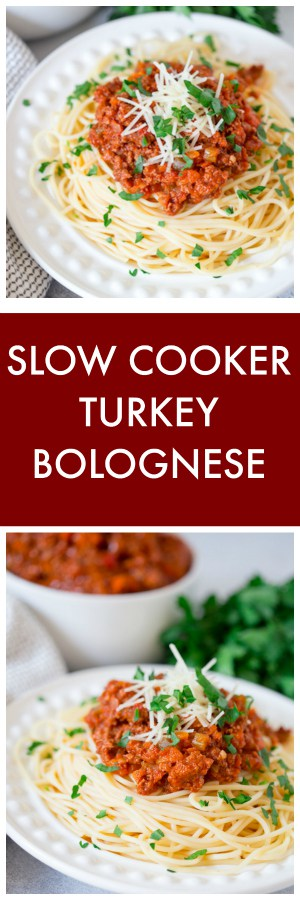 Slow Cooker Turkey Bolognese