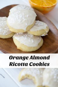 Orange Almond Ricotta Cookies Collage with Text Overlay
