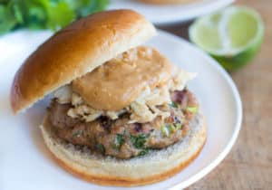 Thai Peanut Turkey Burgers