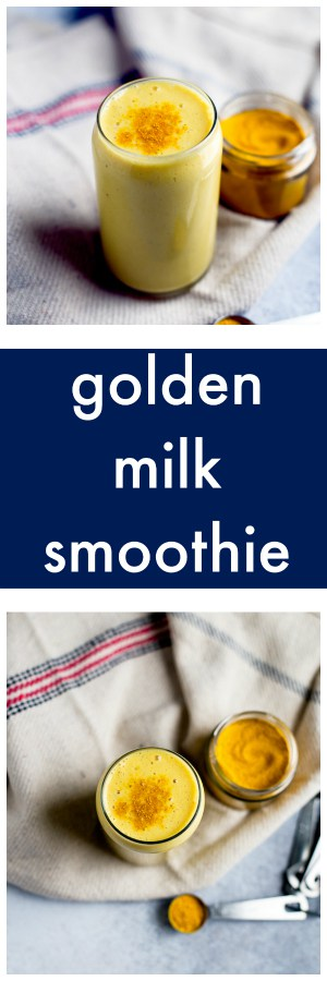Golden Milk Smoothie Super Long Collage with Text Overlay