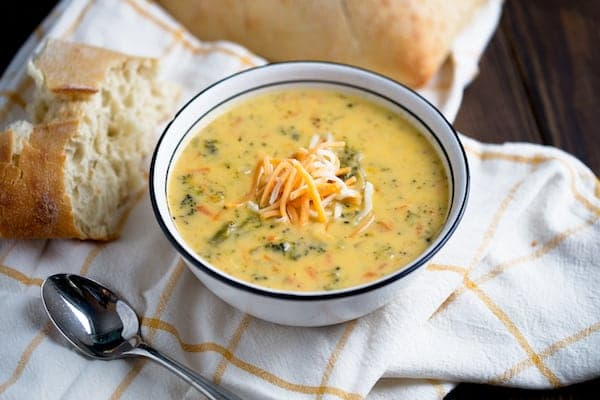 Pressure Cooker Broccoli Cheddar Soup