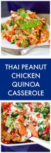 Thai Peanut Chicken Quinoa Casserole Super Long Collage with Text Overlay