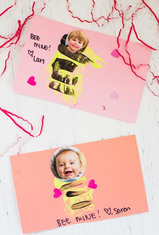 Bee Mine Valentine's Day Toddler Craft