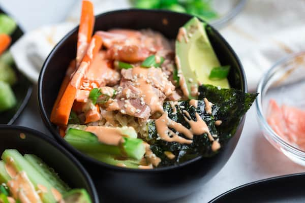 Tuna Rice Bowls with Yum Yum Sauce