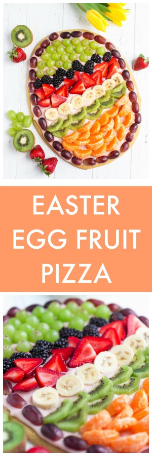Easter Egg Fruit Pizza Super Long Collage with Text Overlay