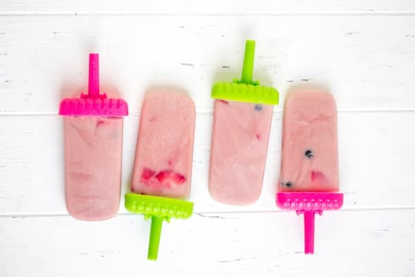 Mixed Berry Smoothie Popsicles