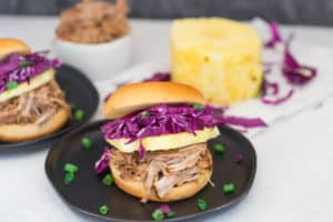 Pressure Cooker Hawaiian Pulled Pork Sandwiches Looking Impressive and Very Delicious
