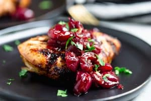 Grilled Chicken with Balsamic Cherry Sauce