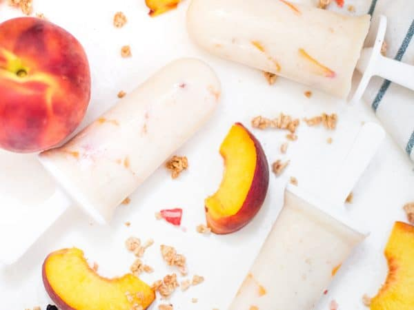 Peach Cheesecake Popsicles