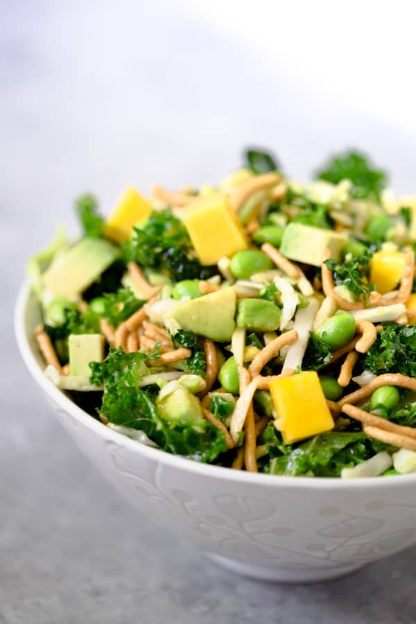 Crunchy Asian Chopped Kale Salad