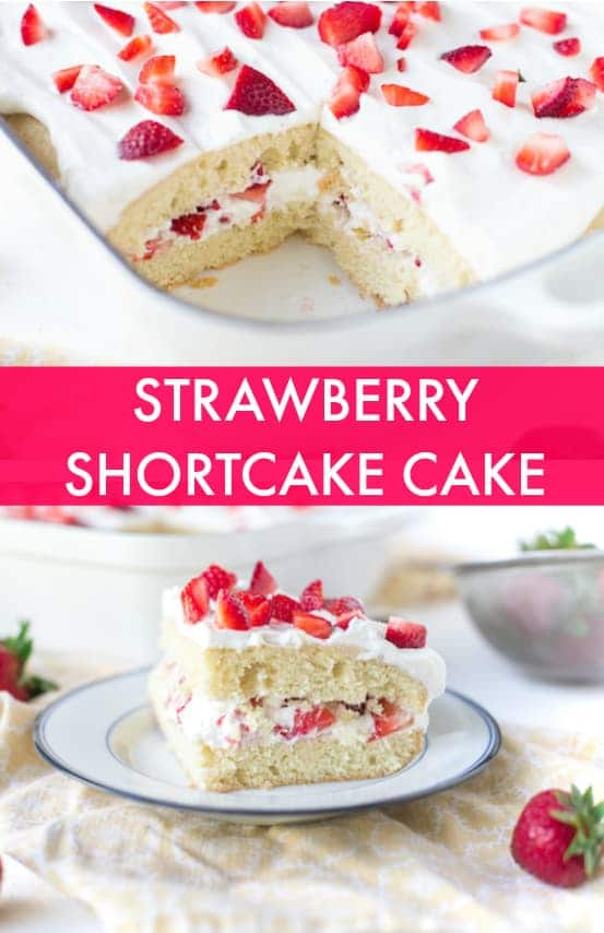 Strawberry Shortcake Cake collage with text overlay