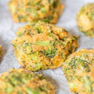 Delicious closeup of the Sweet Potato Broccoli Patties