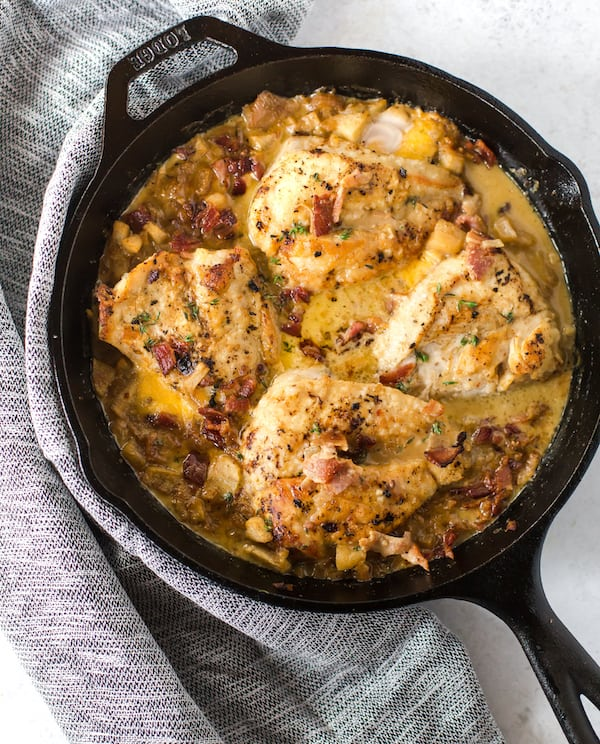 Bacon Cheddar Apple Chicken Skillet