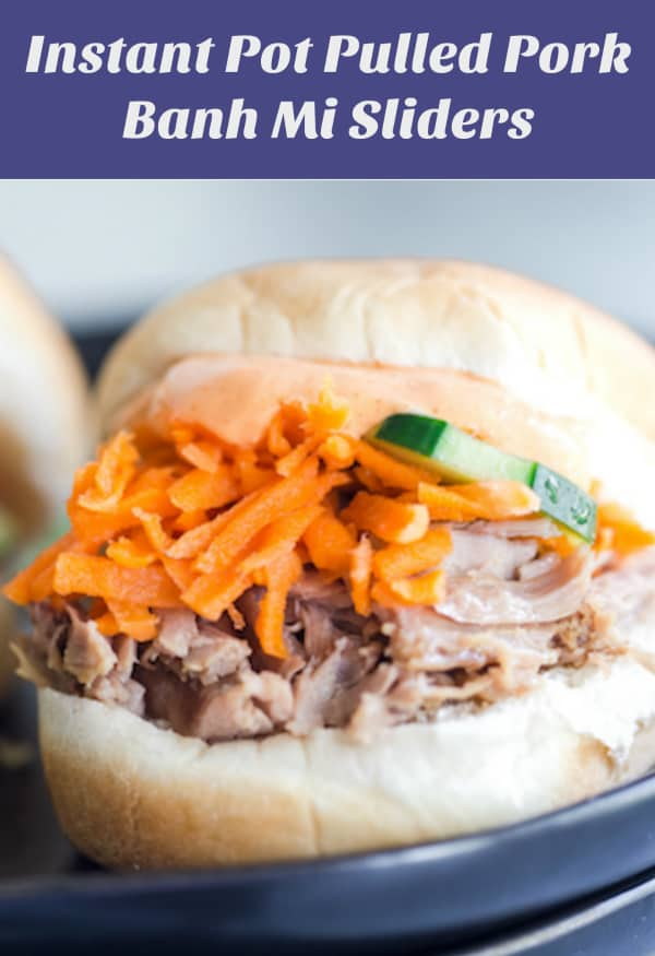 Instant Pot Pulled Pork Banh Mi Sliders