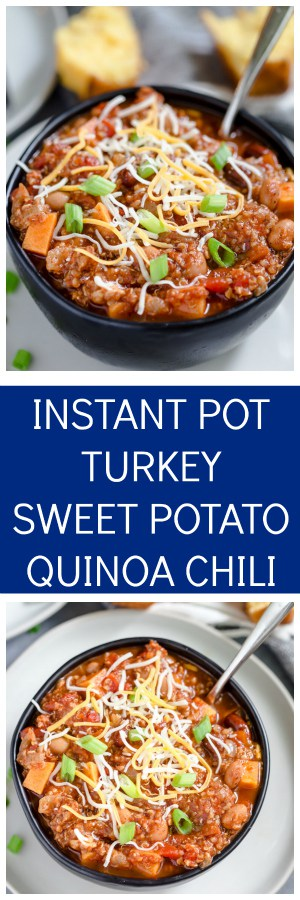 Instant Pot Turkey Quinoa Chili Super Long Collage with Text Overlay