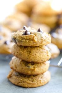 Pudding Mix Pumpkin Chocolate Chip Cookies-2