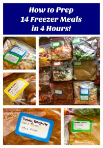 14 Freezer Meals In 4 Hours