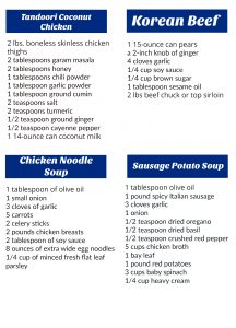 Freezer Meal Groceries