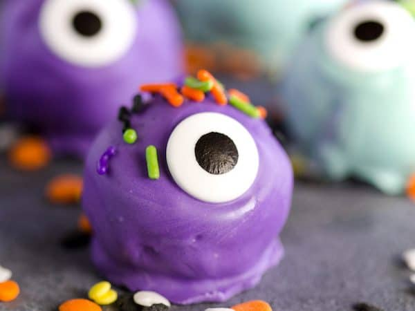 Monster Eye Oreo Truffles