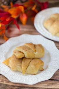 Pumpkin Cheesecake Crescent Rolls