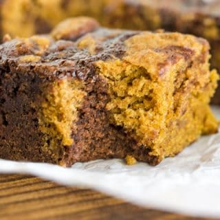 Pumpkin Swirled Brownies