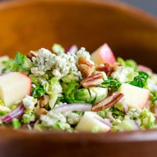 Apple Blue Cheese Brussels Sprout Salad