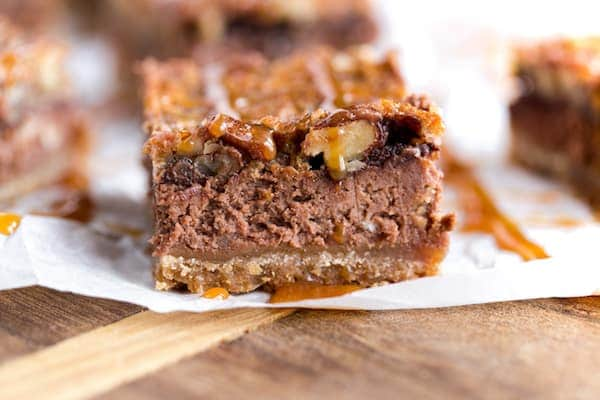 Double Chocolate Pecan Cheesecake Bars