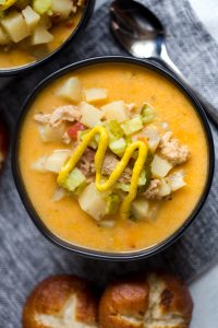 Instant Pot Bacon Turkey Cheeseburger Soup
