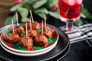Instant Pot Chipotle Cranberry Meatballs