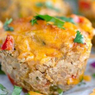 Cheesy Chicken Taco Meatloaf Muffins