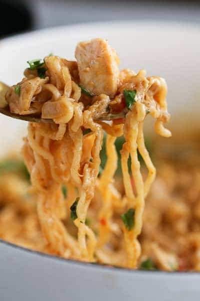 Thai Peanut Chicken Ramen Noodles